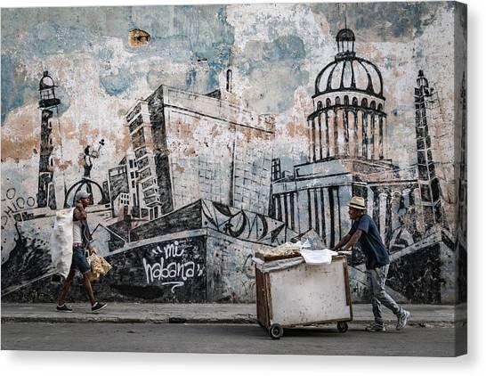 Carts Canvas Print - Mi Habana by Andreas Bauer