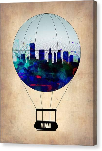 Florida Canvas Print - Miami Air Balloon by Naxart Studio