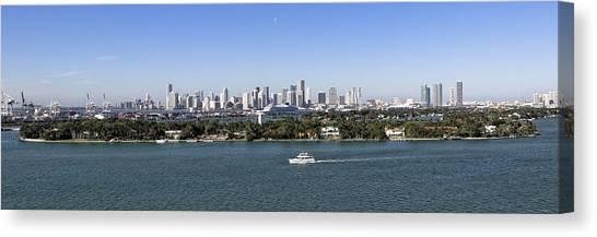 Miami Daytime Panorama Canvas Print