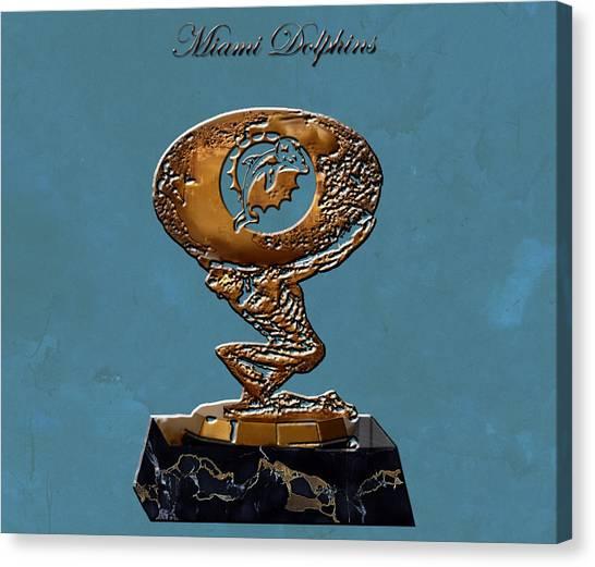 Dan Marino Canvas Print - Miami Dolphins by Brian Reaves