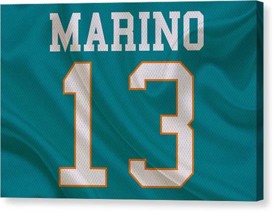 Dan Marino Canvas Print - Miami Dolphins Dan Marino by Joe Hamilton