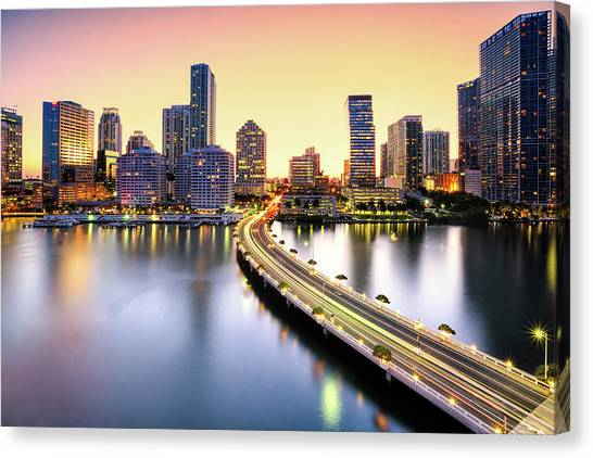 Miami Canvas Print by Eddie Lluisma