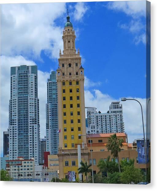 Miami Freedom Tower Canvas Print