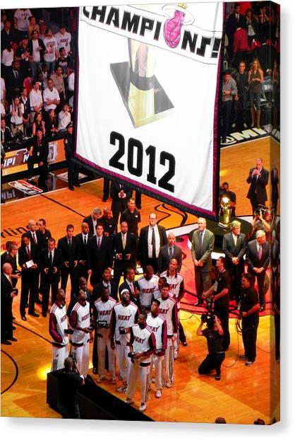 Miami Heat Championship Banner Canvas Print