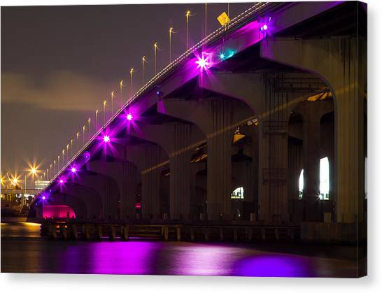 Miami Macarthur Causeway Bridge Canvas Print