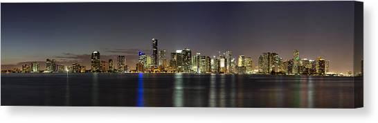 Miami Skyline Canvas Print