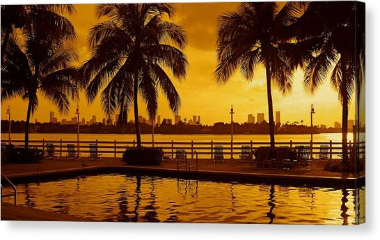 Miami South Beach Romance Canvas Print