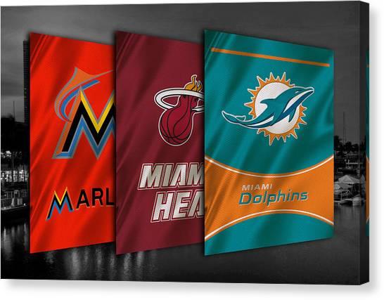 Miami Marlins Canvas Print - Miami Sports Teams by Joe Hamilton