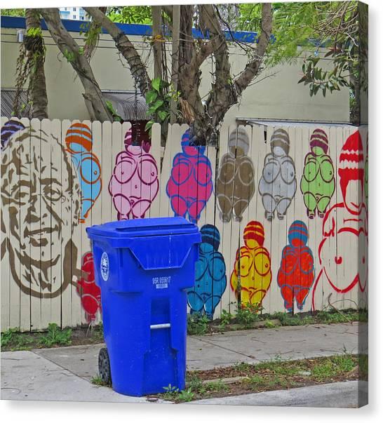 Miami Street Art Canvas Print
