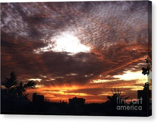 Miami Sunset Canvas Print by Steven Valkenberg