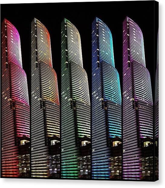 Rainbows Canvas Print - Miami Tower - Miami ( 1986 ) ... In by Joel Lopez