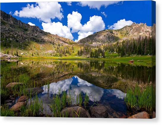 Mica Lake Canvas Print