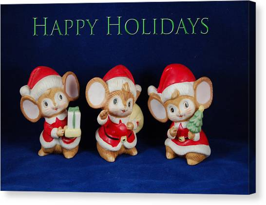 Mice Holiday Canvas Print
