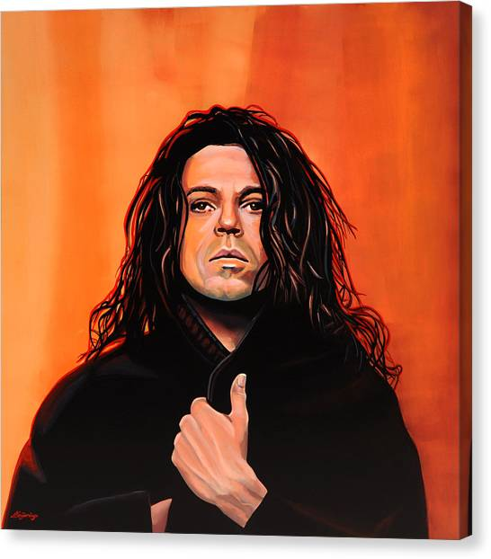 Swing Canvas Print - Michael Hutchence Painting by Paul Meijering