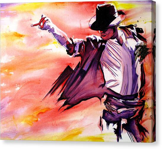 Michael Jackson Canvas Print - Michael Jackson-billie Jean by Joshua Morton