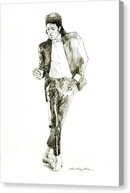 Michael Jackson Canvas Print - Michael Jackson Billy Jean by David Lloyd Glover