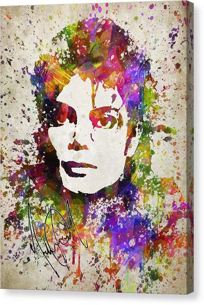 Michael Jackson Canvas Print - Michael Jackson In Color by Aged Pixel