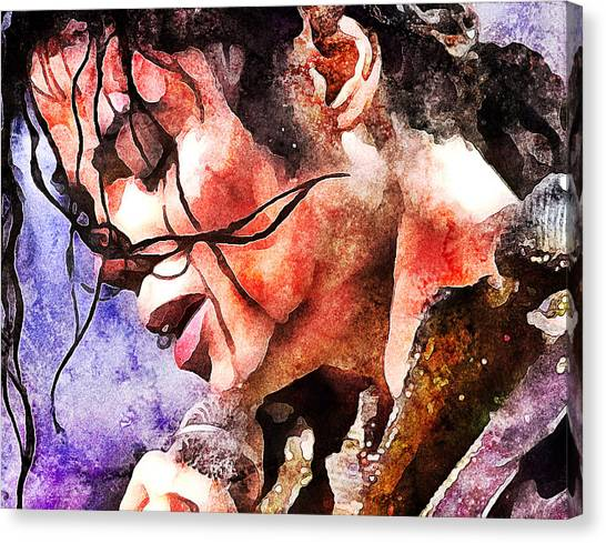 Indoors Canvas Print - Michael Jackson Live And Alive 1 by Yury Malkov