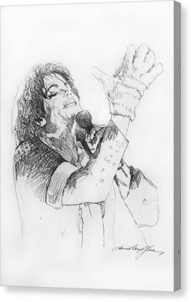 Michael Jackson Canvas Print - Michael Jackson Passion Sketch by David Lloyd Glover