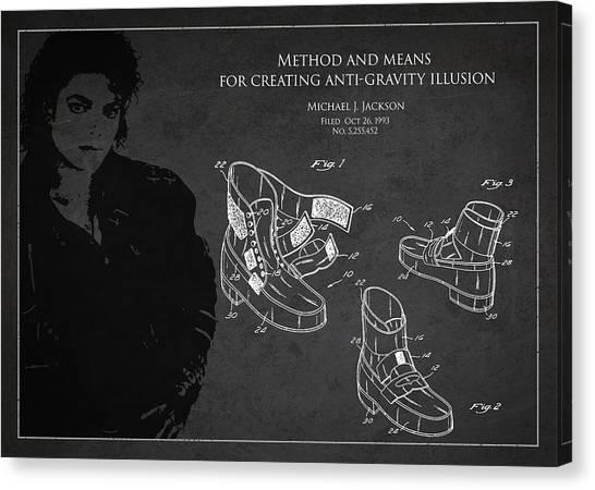 Michael Jackson Canvas Print - Michael Jackson Patent by Aged Pixel
