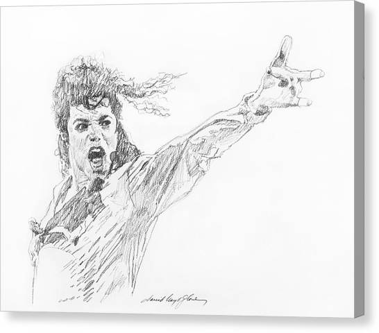 Michael Jackson Canvas Print - Michael Jackson Power Performance by David Lloyd Glover