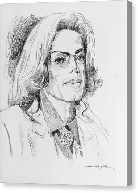 Michael Jackson Canvas Print - Michael Jackson This Is It by David Lloyd Glover