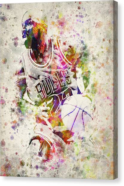 Chicago Bulls Canvas Print - Michael Jordan by Aged Pixel