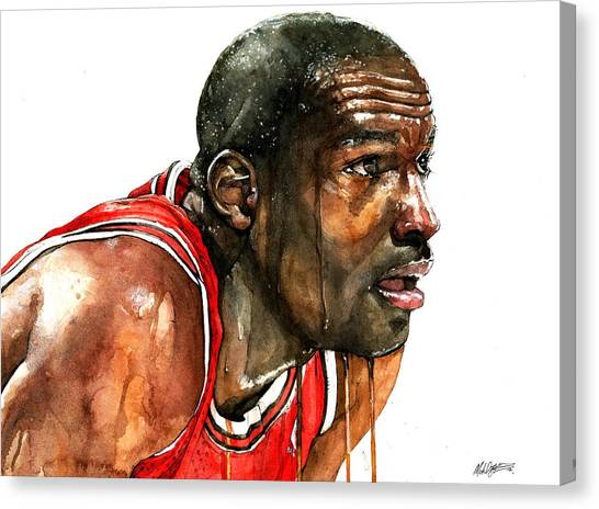 Charlotte Bobcats Canvas Print - Michael Jordan Early Days by Michael  Pattison