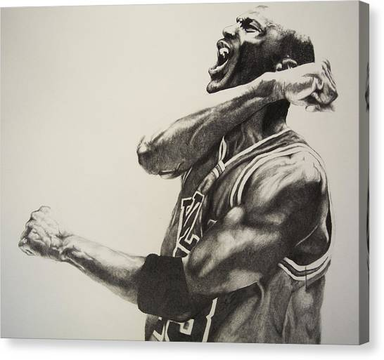 Chicago Canvas Print - Michael Jordan by Jake Stapleton