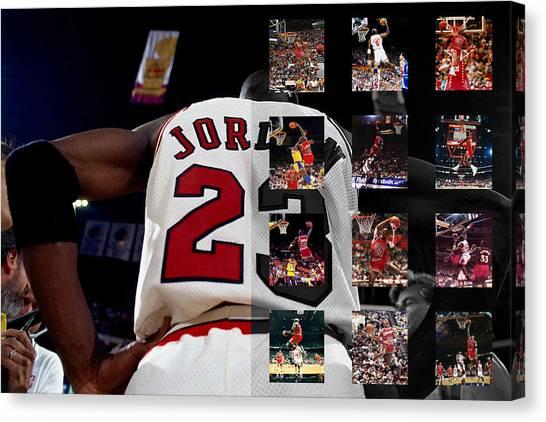 Chicago Bulls Canvas Print - Michael Jordan by Joe Hamilton