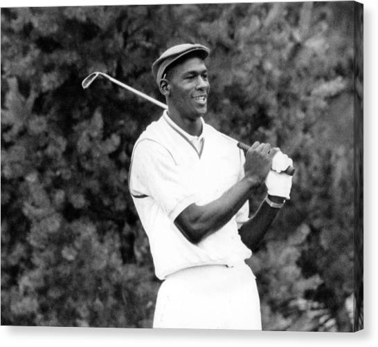 Three Pointer Canvas Print - Michael Jordan Playing Golf by Retro Images Archive