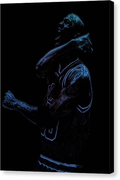 Russell Westbrook Canvas Print - Michael Jordan Victory by Brian Reaves