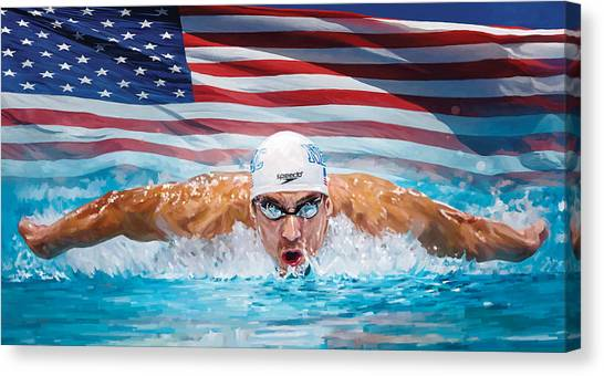 Michael Phelps Artwork Canvas Print