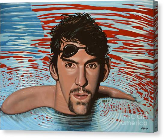 Athens Canvas Print - Michael Phelps by Paul Meijering