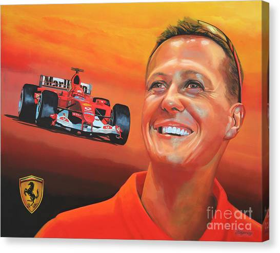 Formula 1 Canvas Print - Michael Schumacher 2 by Paul Meijering