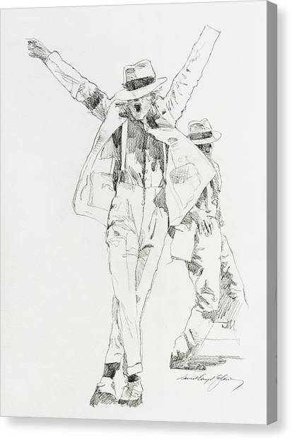Michael Smooth Criminal Canvas Print