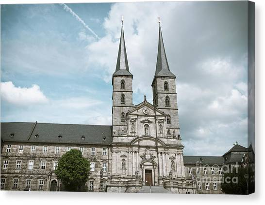 Sightseeing Canvas Print - Michaelsberg Abbey In Bamberg by Design Windmill