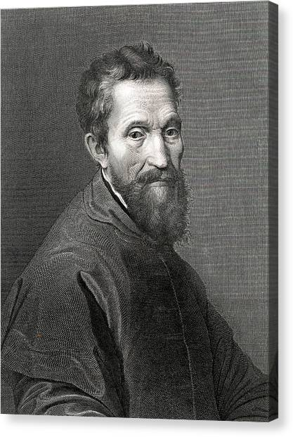 Michelangelo Simoni Canvas Print - Michelangelo by Collection Abecasis