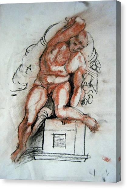 Michelangelo Study Canvas Print