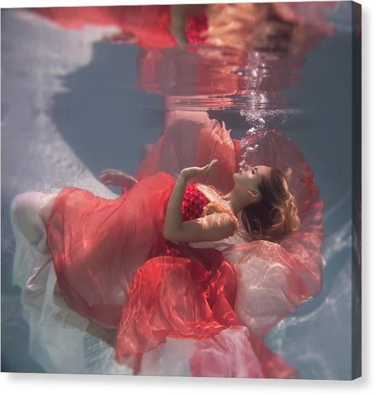 Dress Canvas Print - Michelle by Gabriela Slegrova