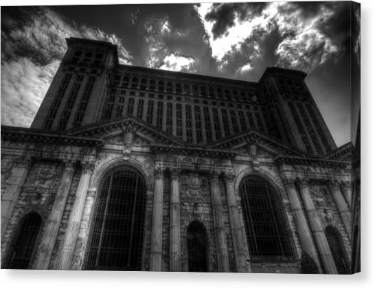 Michigan Central Station Highrise Canvas Print