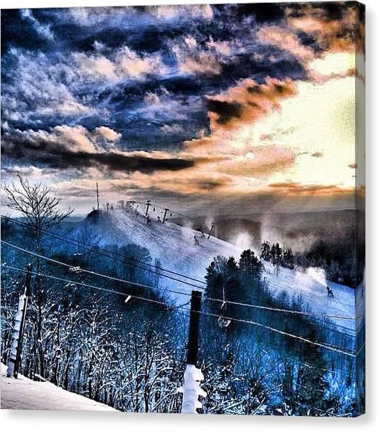 Snowboarding Canvas Print - Michigan I Will Miss You #puremichigan by Cody Barnhart