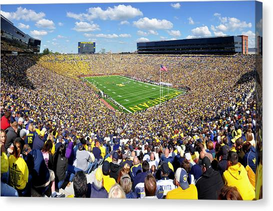 Arbor Canvas Print - Michigan Stadium - Wolverines by Georgia Fowler