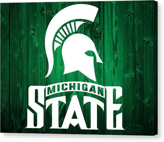 Michigan State University Canvas Print - Michigan State Barn Door by Dan Sproul