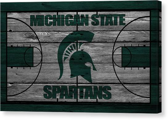 Ball State University Canvas Print - Michigan State Spartans by Joe Hamilton