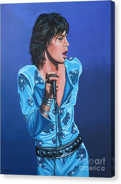 Rolling Stones Canvas Print - Mick Jagger by Paul Meijering