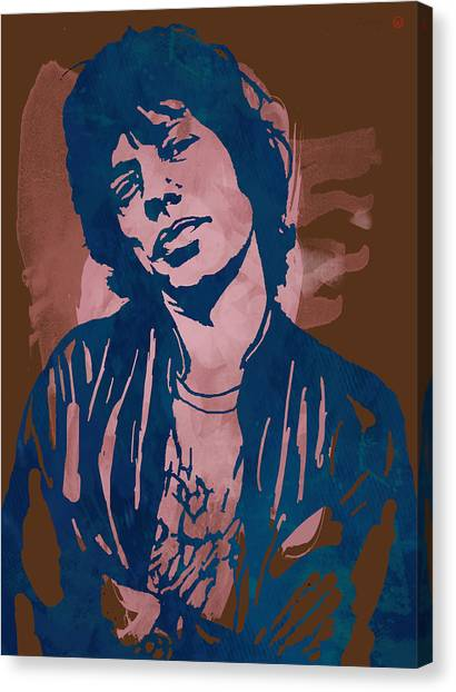 Music Canvas Print - Mick Jagger - Pop Stylised Art Sketch Poster by Kim Wang