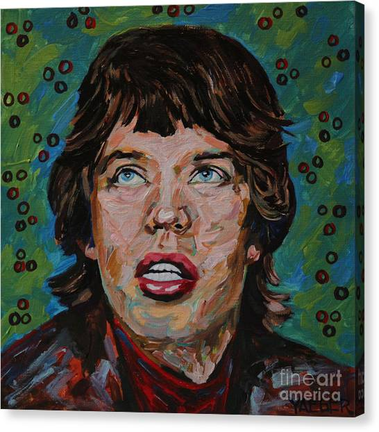 Moves Like Jagger Canvas Print - Mick Jagger Portrait by Robert Yaeger