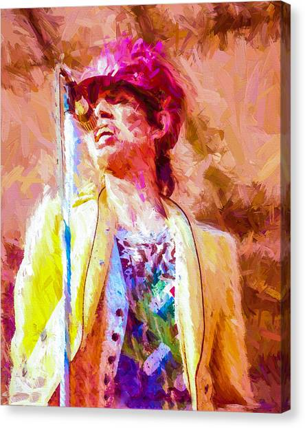 Moves Like Jagger Canvas Print - Mick Jagger by Vivian Frerichs