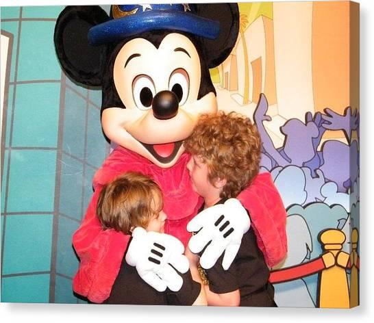 Mickey Love Canvas Print